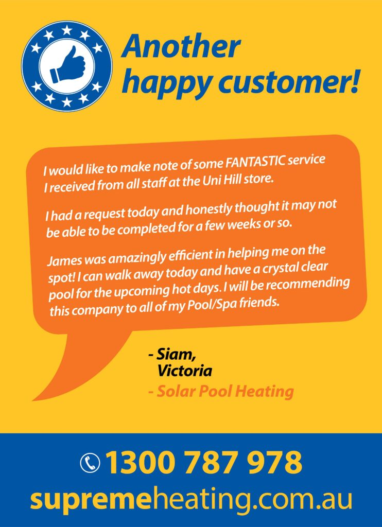 Another Happy Solar Pool Heating Customer