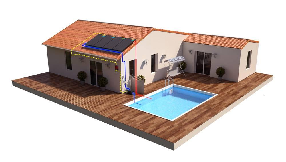 hybrid pool heating